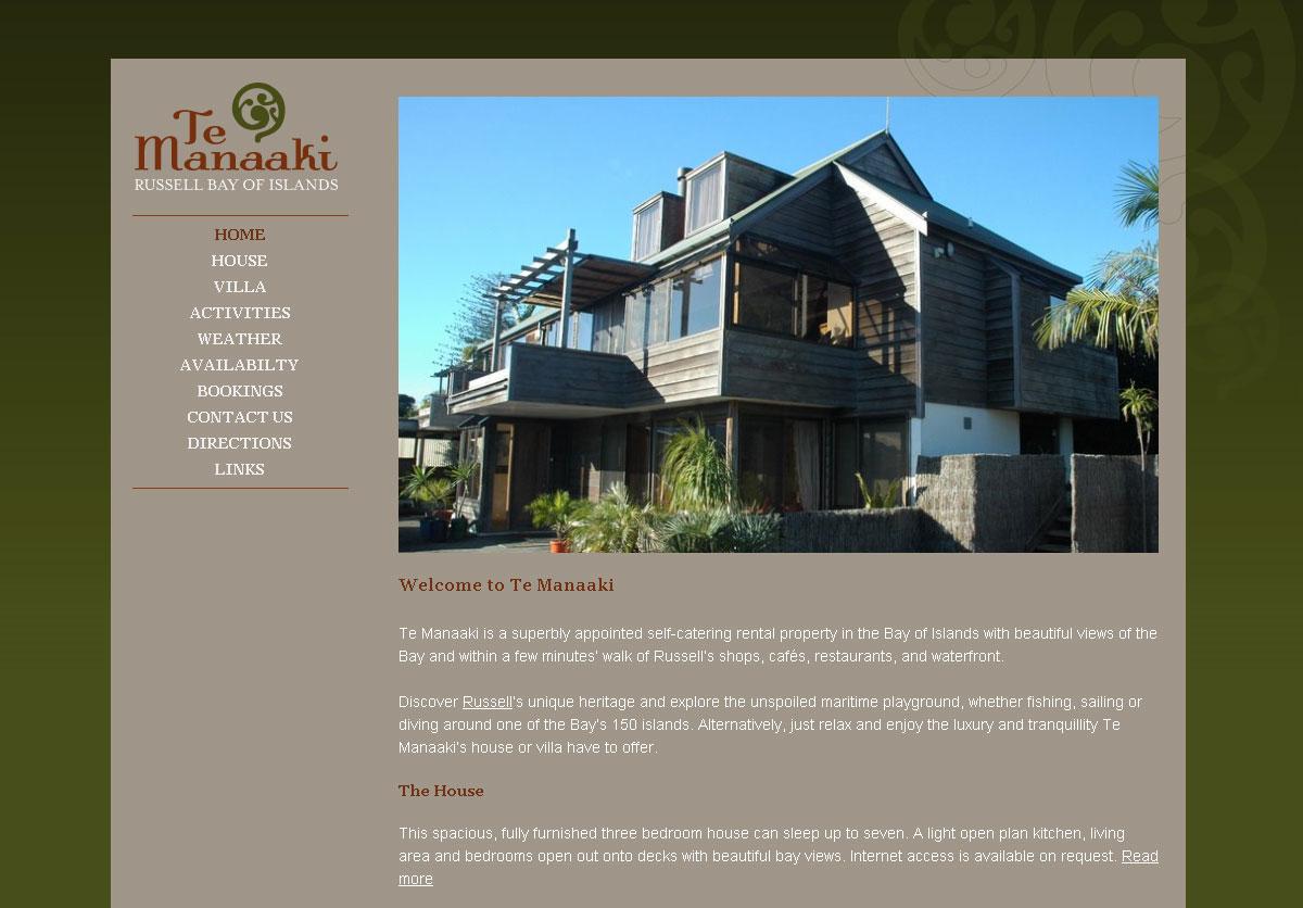 Web Design For Temanaaki Ultimedia Hobart Tasmania